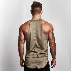 Longline Fitted Mesh Gym Workout Vest - 6 Colours