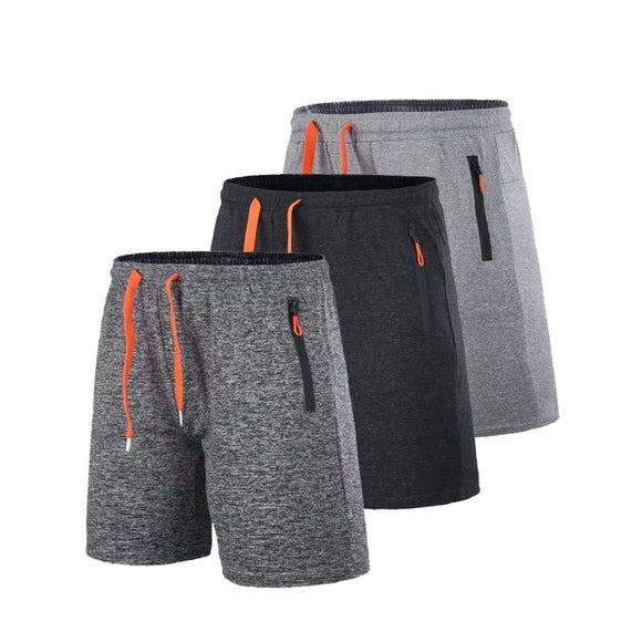 Breathable Workout Shorts with Zipper Pocket - 3 Colours