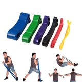 Latex Pull Up Assist & Stretch Resistance Loop Bands - 6 Resistance