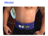 Leather & Buckle Weightlifting Belt, Lumbar Protection for Squats and Powerlifting (Various Colours)