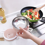 1pc Stackable Stainless Steel Thermal Food Prep Container - 3 Colours
