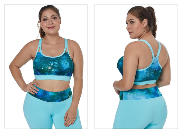 Breathable Multi-Coloured Seemless Sports Bra - 3 Styles