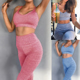 Matching Gym Leggings and Sports Bra Set - 3 Colours