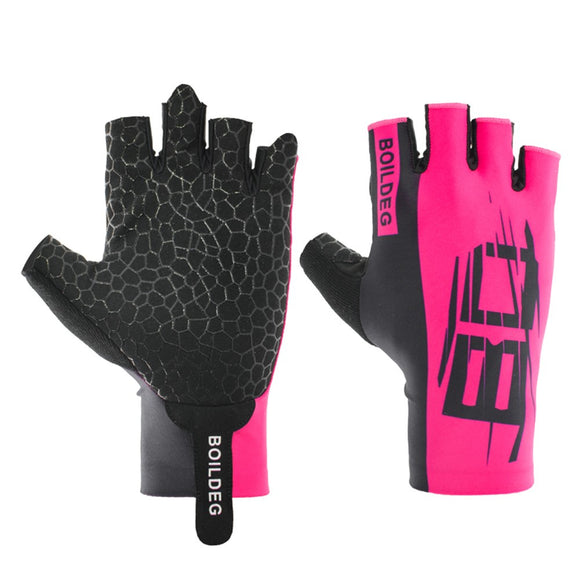 1 Pair Men/Women Cycling Gloves with Shock Absorb Gel Pad, Breathable Half Finger