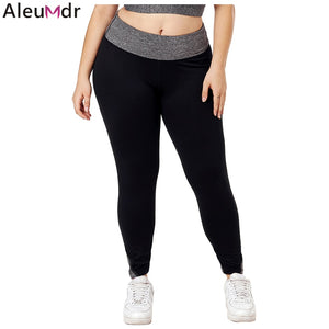 Womens Black Heathered Splice Leggings Yoga Pants - 3 Colours
