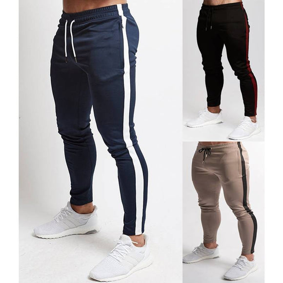 Mens Striped Training Joggers - 3 Colours