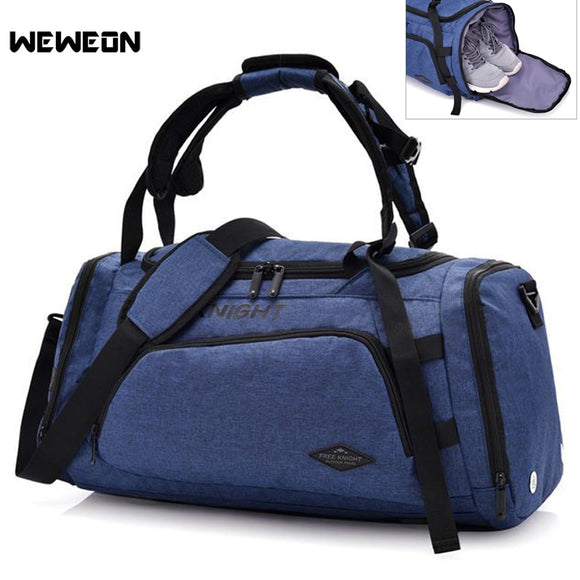 Men / Womens Anti-Theft Sports Bag / Rucksack Combo with Shoes Storage