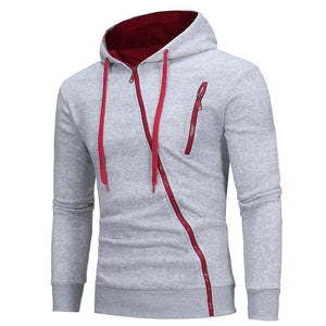 Slim Fit Long Sleeve Hoodie Hooded Sweatshirt - 4 Colours