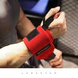 Heavy Duty Weight Lifting Wrist Support Wraps with Thumb Loop - 4 Colours