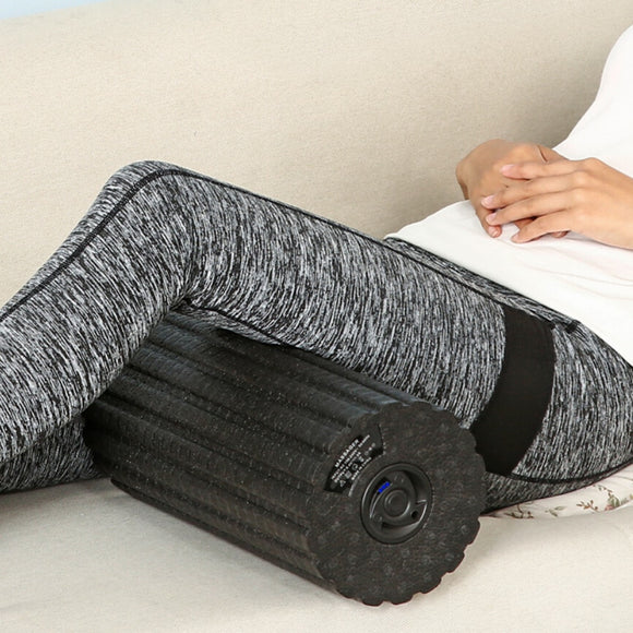 31x15cm Electric Vibrating Foam Roller for Massage, Trigger Point Threapy and Stretching