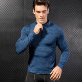 Zip Neck Fitted Sports Gym Fitness Top - 5 Colours