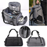 Large Capacity Men / Womens Sports Bag / Rucksack Combo with Shoes Storage