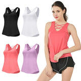 Dry Slim Fit Yoga Vest with Chest Detail - 4 Colours