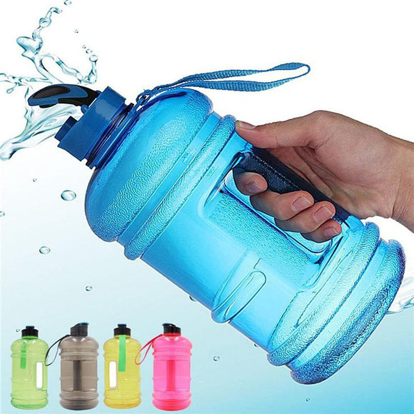 2.2L Big Gulp BPA Free Sports Gym Training Water Bottle with Spout and Cap- 5 Colours