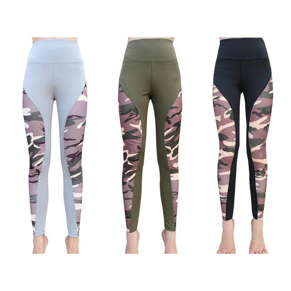 Quick Dry Camouflage Style Yoga Pants - 3 Colours