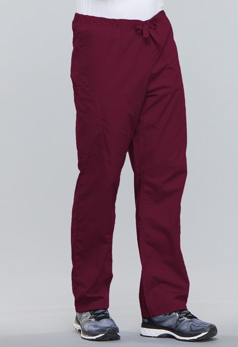 Cherokee Workwear Originals Unisex Drawstring Cargo Pant Wine