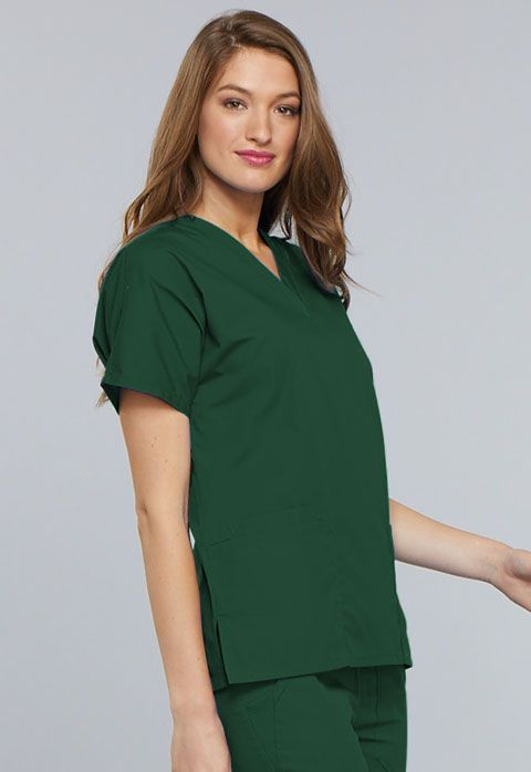 Cherokee Workwear Originals V-neck Top Hunter Green