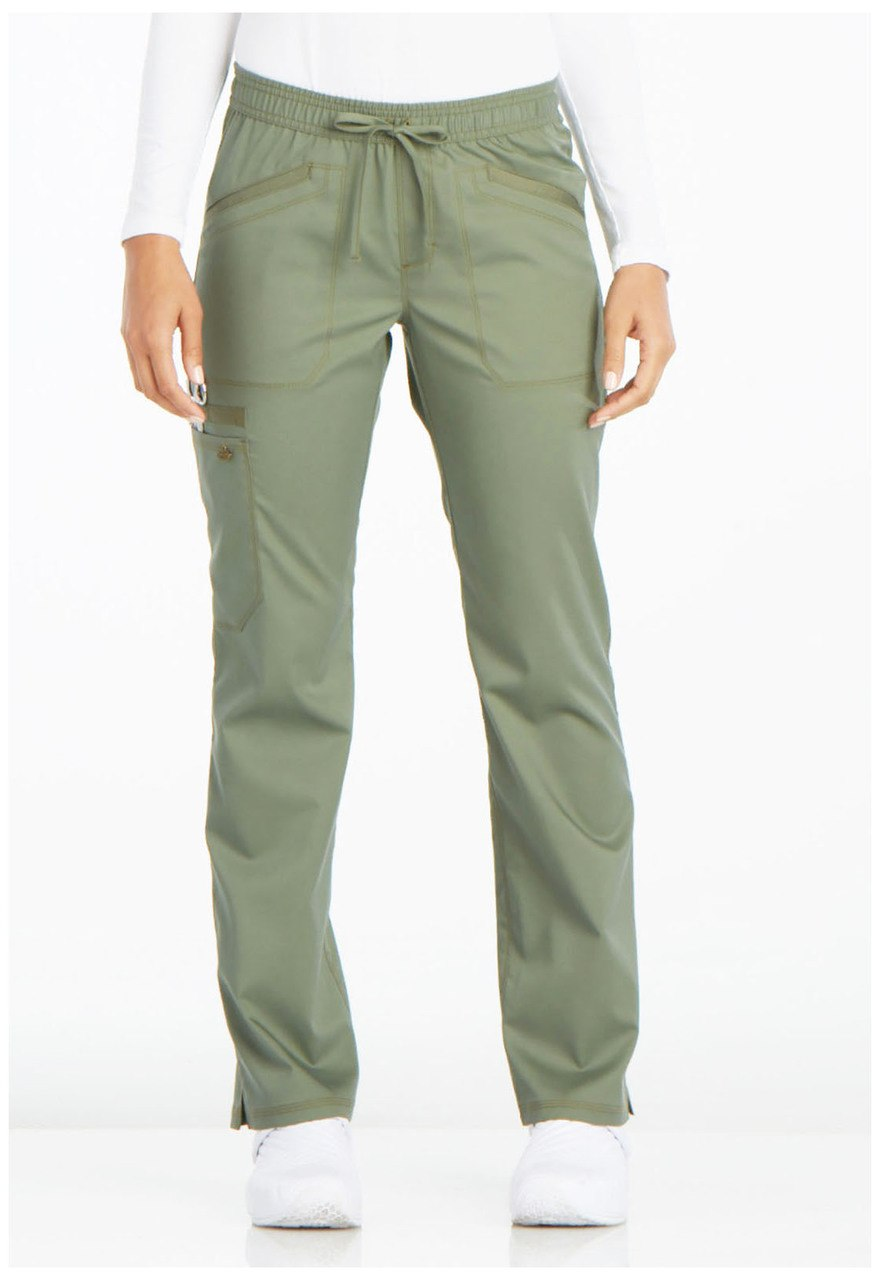 Dickies Mid Rise Straight Leg Drawstring Pant Olive