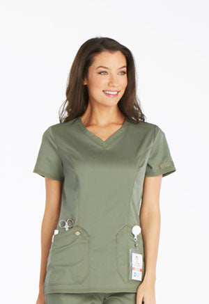 Dickies V-neck Top Olive