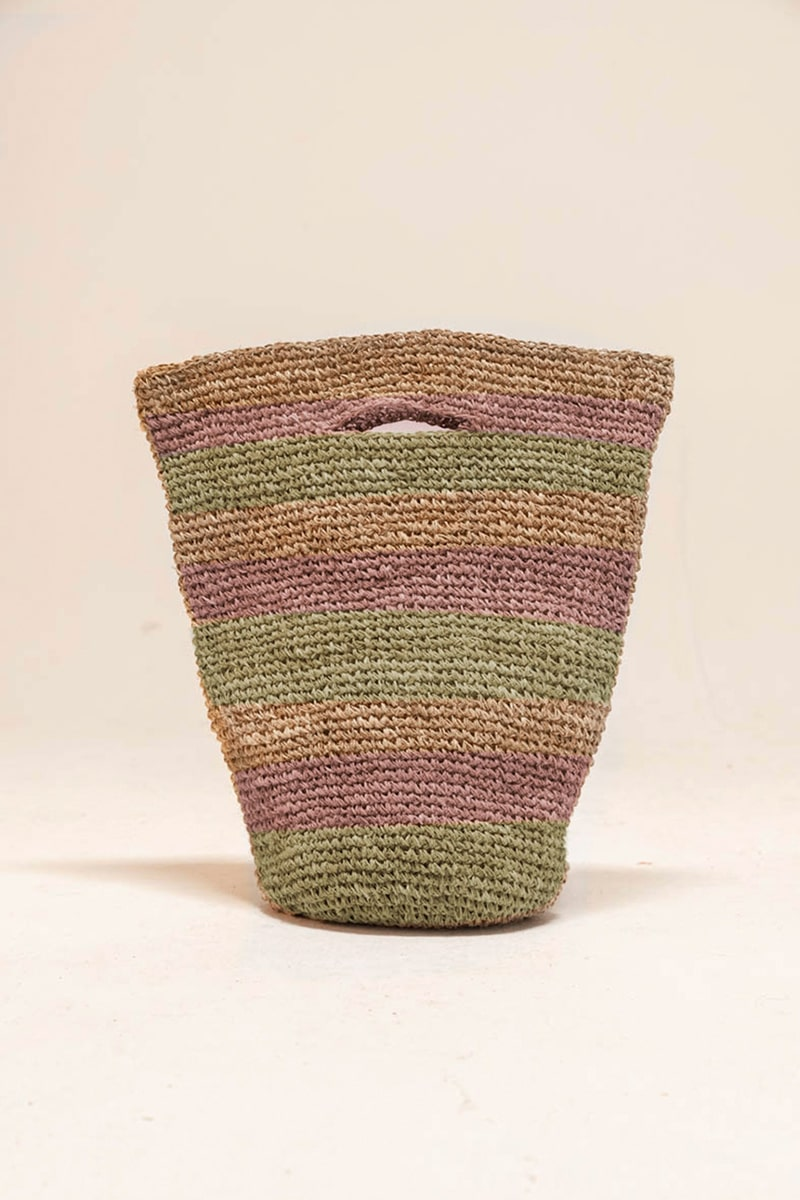 Bajura Crochet Basket 100% Hemp Multicolor