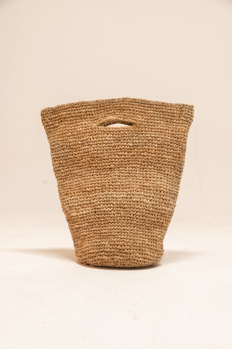 Bajura Crochet Basket 100% Hemp Natural