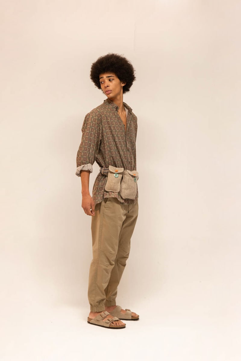 Pull-out Pockets Belt 100% Hemp Natural