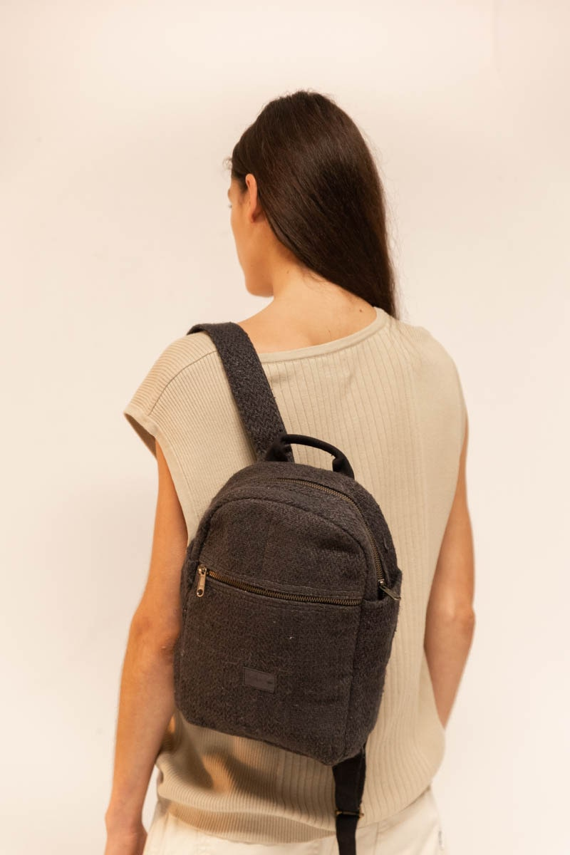 Mini Yala Backpack 100% Hemp Black