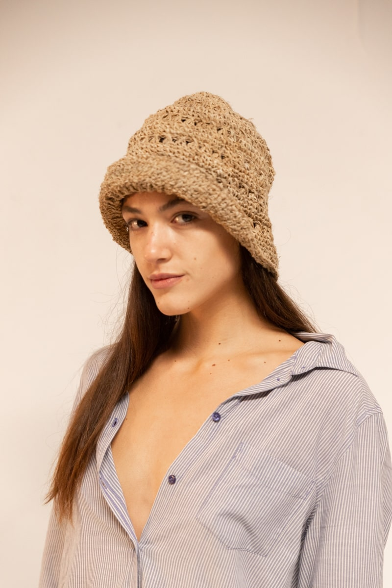 Bajura Crochet Hat 100% Hemp Natural