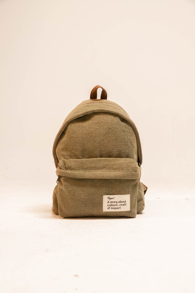 Message Backpack Green