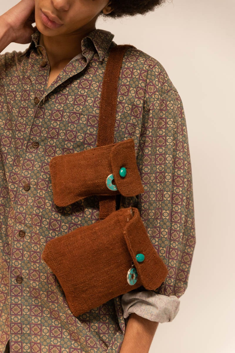 Pull-out Pockets Belt 100% Hemp Rust