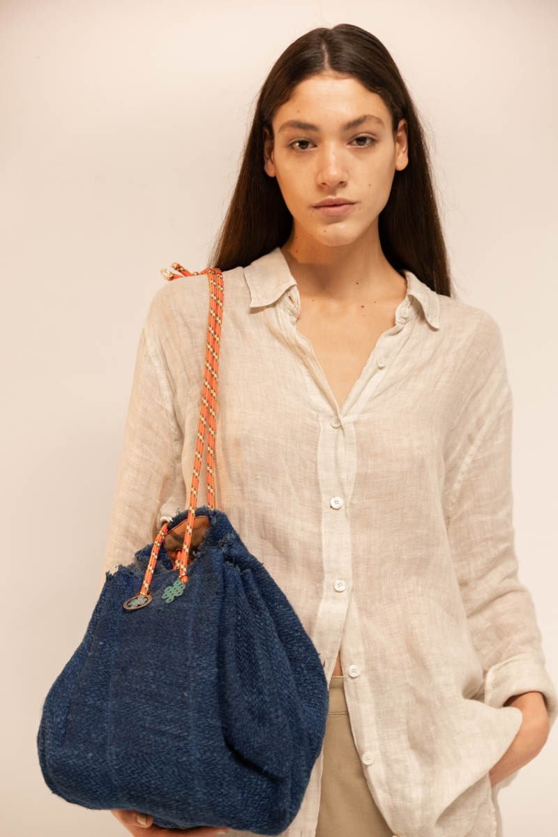 Expandable Bag 100% Hemp Blue
