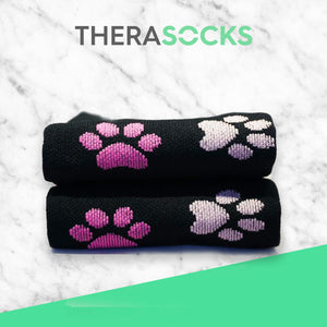 TheraSocks Knee High - Pawesome Pink - TheraWear