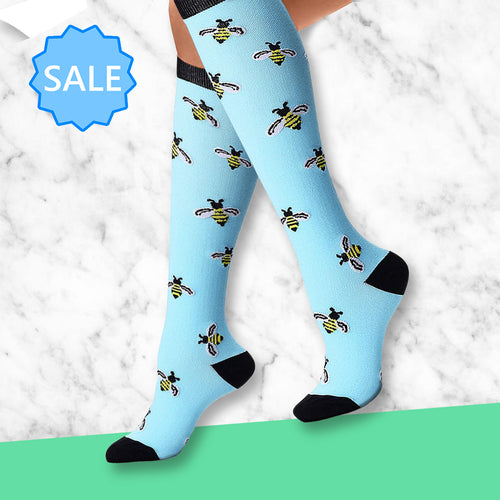 TheraSocks Knee High - Bee Party - TheraWear