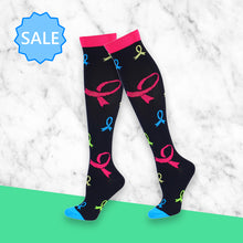 Load image into Gallery viewer, TheraSocks Knee High - Ribbons - TheraWear