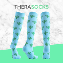 Load image into Gallery viewer, TheraSocks Knee High - Cactus - TheraWear