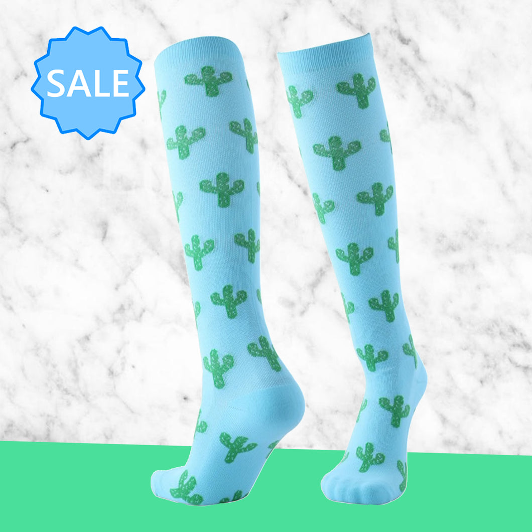TheraSocks Knee High - Cactus - TheraWear