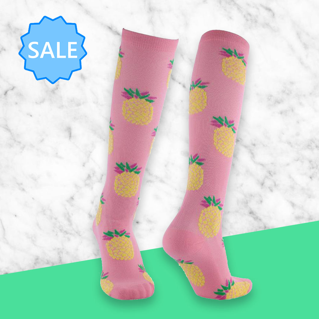 TheraSocks Knee High - Pineapple Party - TheraWear