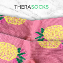 Load image into Gallery viewer, TheraSocks Knee High - Pineapple Party - TheraWear