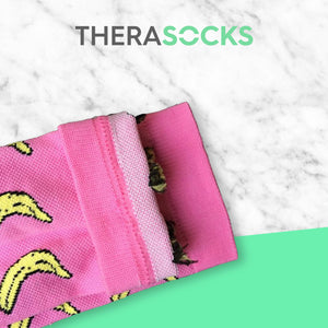 TheraSocks Knee High - Pink Banana - TheraWear