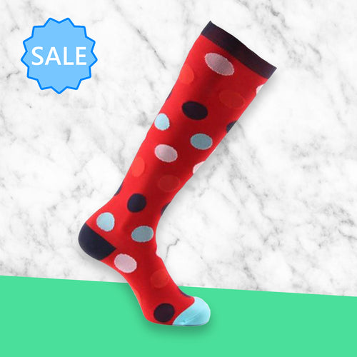 TheraSocks Knee High - Party Polka Dot - TheraWear