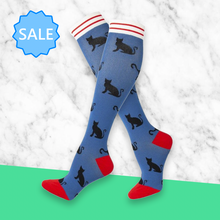 Load image into Gallery viewer, TheraSocks Knee High - Sneak Cats - TheraWear