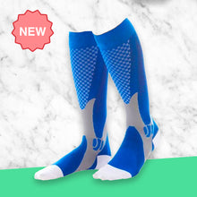 Load image into Gallery viewer, Knee High - Active Blue Compression Socks