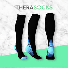 Load image into Gallery viewer, TheraSocks Knee High - Retro Blue - TheraWear