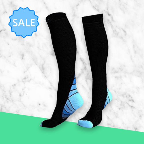 TheraSocks Knee High - Retro Blue - TheraWear