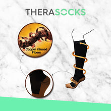 Load image into Gallery viewer, TheraSocks Copper Infused - Black & Gold - TheraWear