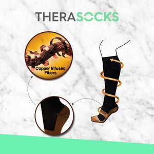 TheraSocks Copper Infused - Natural Skin - TheraWear