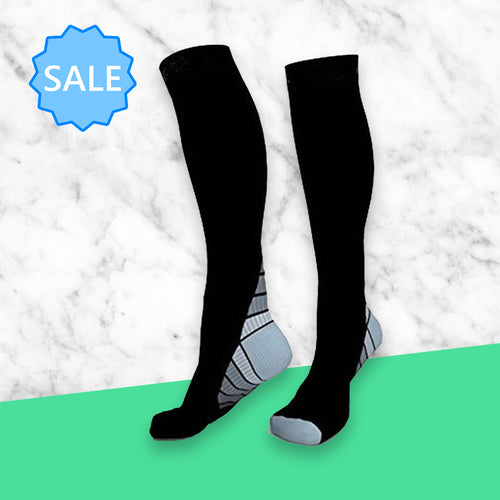 TheraSocks Knee High - Retro Grey - TheraWear