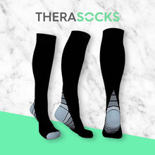 Load image into Gallery viewer, TheraSocks Knee High - Retro Grey - TheraWear