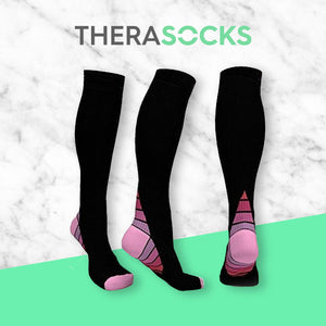 TheraSocks Knee High - Retro Pink - TheraWear