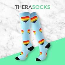 Load image into Gallery viewer, TheraSocks Knee High - Happy Hearts - TheraWear